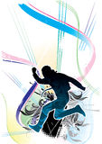Atletische BloemenAchtergrond stock illustratie