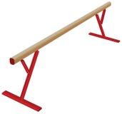 Atletische evenwichtsbalk Stock Afbeelding