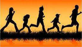 Atletische familie Stock Foto's