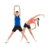 Atletische man en vrouw Stock Afbeelding