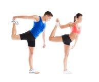 Atletische man en vrouw Royalty-vrije Stock Afbeelding