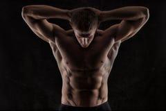 Atletische mens Royalty-vrije Stock Afbeeldingen