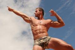 Atletische mens royalty-vrije stock fotografie