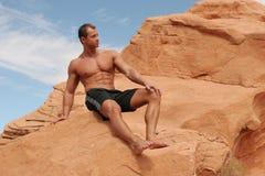 Atletische mens Stock Foto