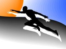 Atletische mens Royalty-vrije Stock Afbeelding
