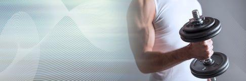 Atletische mens Panoramische banner royalty-vrije stock fotografie