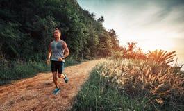Atletische mensenlooppas Royalty-vrije Stock Foto's