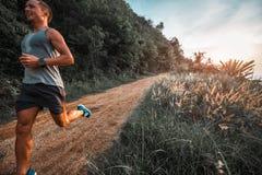Atletische mensenlooppas Stock Fotografie