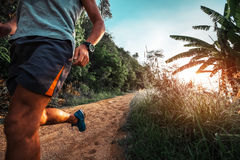 Atletische mensenlooppas Stock Afbeelding