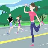 Atletische oefeningen stock illustratie