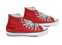 Atletische schoenenillustratie Royalty-vrije Stock Afbeeldingen