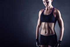 Atletische vrouw Stock Afbeeldingen