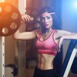 Atletische vrouw Royalty-vrije Stock Afbeeldingen