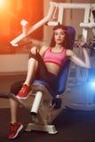 Atletische vrouw Stock Foto's