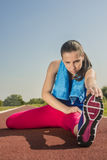 Atletische Vrouw - Rek Royalty-vrije Stock Foto