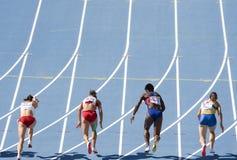 Atletismo de las mujeres Imágenes de archivo libres de regalías