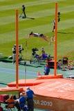Atletismo del salto con pértiga Foto de archivo libre de regalías