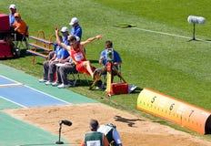 Atletismo del salto de longitud Fotografía de archivo