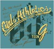 Atletismo delle ragazze royalty illustrazione gratis
