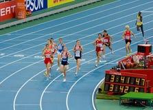 Atletismo europeo 1500 contadores Imagenes de archivo