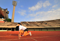 Atletismo - hembra 20 Imagen de archivo libre de regalías