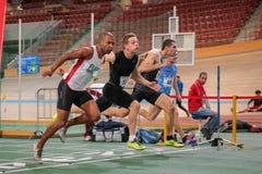 Atletismo interior 2015 Imagen de archivo libre de regalías