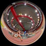 Atletismo interior 2015 Foto de archivo libre de regalías