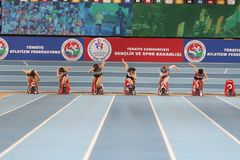 Atletismo interior de la taza de Estambul Fotos de archivo libres de regalías