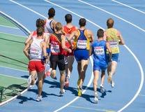 Atletismo los 800m Imágenes de archivo libres de regalías
