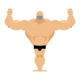 Atletismo masculino fuerte grande Culturista con los músculos enormes ilustración del vector