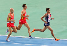 Atletismo 1500 metros Fotografía de archivo