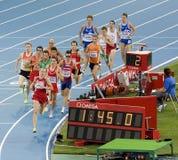 Atletismo 1500 metros Foto de archivo libre de regalías