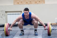 Atletismo pesado, weightlifter. Foto de Stock