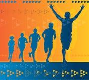 atlety abstrakcjonistyczny wygranie ilustracji