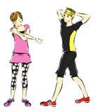 Atlety, biegacze royalty ilustracja
