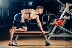 Atlety bodybuilder szkolenia mięśniowy plecy z Zdjęcie Royalty Free