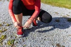 Atlety kobiety narządzanie dla outdoors szkolenia Obrazy Stock