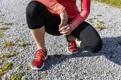 Atlety kobiety narządzanie dla outdoors szkolenia, Bawarski Natio Obraz Stock