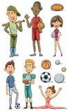 Atlety kolekcja Obrazy Stock