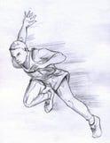 atlety mężczyzna bieg ilustracja wektor