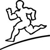 atlety murzyna biegacza biel Zdjęcie Royalty Free