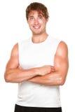 atlety sprawności fizycznej mężczyzna biel obrazy stock