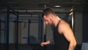 Atlety szkolenie w gym - Czynnościowy stażowy trening zbiory