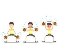 Atlety weightlifter robi ćwiczeniom trudnym Vektor Ilustracja Wektor