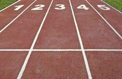 Atletyka ślad obraz stock