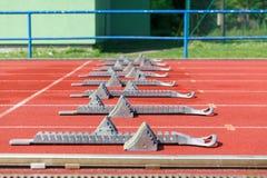 atletyka bloków zaczynać Obraz Stock