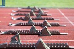 atletyka bloków zaczynać Zdjęcie Stock