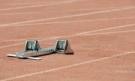 atletyka blokują zaczynać Fotografia Royalty Free