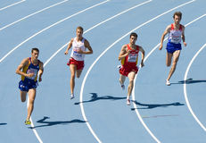 Atletyka 800m Fotografia Royalty Free