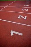 atletyka pasa ruchu liczb ślad Fotografia Stock